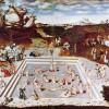 LUCAS CRANACH DER ÄLTERE (1472–1553): Der Jungbrunnen, 1546, Öl auf Holz, 122 x 186,5 cm, Berlin, Gemäldegalerie.