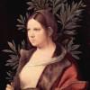 GIORGIONE (eigentl. GIORGIO [ZORZO] DA CASTELFRANCO, 1478–1510): Laura (Porträt einer jungen Frau), um 1506, Leinwand auf Holz geklebt, 41 x 33,6 cm, Wien, Kunsthistorisches Museum.