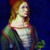 ALBRECHT DÜRERs Selbstbildnis von 1493, Leinwand, 57 × 45 cm, Paris, Musée du Louvre