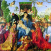 ALBRECHT DÜRER: Das Rosenkranzfest (auch: Rosenkranzaltar),1506, Pappelholz, 162 × 194,5 cm. Prag, Národni Galerie.