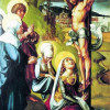 ALBRECHT DÜRER: Die sieben Schmerzen Mariä, Mitteltafel, Szene: Christus am Kreuz, um 1494-1497, Nadelholz, 63,5 × 45,5 cm, Dresden, Gemäldegalerie.