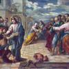 EL GRECO: Christus heilt den Blinden, um 1570, Öl auf Holz, 65,5 x 84 cm, Dresden, Gemäldegalerie.