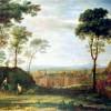 """CLAUDE LORRAIN: """"Ostermorgen"""";1681, Öl auf Leinwand, 83 × 139cm;Frankfurt am Main, Städelsches Kunstinstitut."""