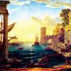 """CLAUDE LORRAIN: """"Einschiffung der Königin von Saba"""";1648, Öl auf Leinwand, 149 × 194cm;London, National Gallery."""