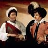 """MICHELANGELO CARAVAGGIO: """"Die Wahrsagerin"""";um 1594, Öl auf Leinwand, 99 × 131cm;Paris, Musée du Louvre."""