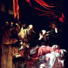 """MICHELANGELO CARAVAGGIO: """"Tod Mariä"""";1605–1506, Öl auf Leinwand, 369 × 245cm;Paris, Musée du Louvre."""