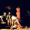 """MICHELANGELO CARAVAGGIO: """"Die Enthauptung Johannes des Täufers"""";für das Oratorium der Kathedrale San Giovanni die Cavalieri in Valletta;1608, Öl auf Leinwand, 361 × 520cm;Valletta (Malta), Kathedrale San Giovanni."""