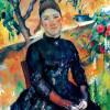 "PAUL CÉZANNE: ""Porträt der Mme Cézanne im Gewächshaus"";1891–1892, Öl auf Leinwand, 92 × 73 cm;New York, Metropolitan Museum of Art."