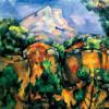"PAUL CÉZANNE: ""Montagne Sainte-Victoire, Blick vom Steibruch Bibémus"";um 1897, Öl auf Leinwand, 65 × 81 cm;Baltimore, Museum of Art."