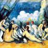 "PAUL CÉZANNE: ""Die großen Badenden"";1900–1905, Öl auf Leinwand, 136 × 191 cm;London, National Gallery."