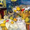 """PAUL CÉZANNE: """"Stillleben mit Früchtekorb"""";1888–1890, Öl auf Leinwand, 64 × 80 cm;Paris, Musée d'Orsay."""