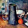 "PAUL CÉZANNE: ""Stillleben"";1879, Öl auf Leinwand, 28 × 34 cm;New York, Sammlung E. Reves."