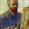 VINCENT WILLEM VAN GOGH: Selbstporträt vor Staffelei;1888, Öl auf Leinwand, 65,5 × 50,5 cm;Amsterdam, Van Gogh Museum.