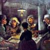 """VINCENT WILLEM VAN GOGH: """"Die Kartoffelesser"""";1885, Öl auf Leinwand, 81,5 × 114,5 cm;Amsterdam, Van Gogh Museum."""