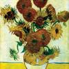 """VINCENT WILLEM VAN GOGH: """"Stilleben mit Sonnenblumen"""";1888, Öl auf Leinwand, 93 × 73 cm;London, Tate Gallery."""