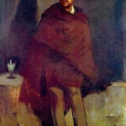 """ÉDOUARD MANET: """"Absinthtrinker"""";1859, Öl auf Leinwand, 178 × 103 cm;Kopenhagen, Ny Carlsberg Glyptotek."""