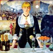 "ÉDOUARD MANET: ""Bar in den Folies-Bergère"";1881–1882, Öl auf Leinwand, 96 × 130 cm;London, Courtauld Institute Galleries."