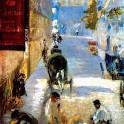 """ÉDOUARD MANET: """"Straßenarbeiter, Rue de Bernes"""", Detail;1878, Öl auf Leinwand, 63,5 × 80 cm;London, Sammlung Lord Butler."""
