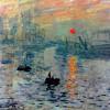 """CLAUDE MONET: """"Impression, Sonnenaufgang"""";1872, Öl auf Leinwand, 48 × 63 cm;Paris, Musée Marmottan."""