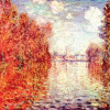 "CLAUDE MONET: ""Herbst in Argenteuil"";1873, Öl auf Leinwand, 56 × 75 cm;London, Courtauld Institute Galleries."