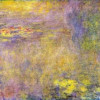 "CLAUDE MONET: ""Seerosen"" (»Gelbes Nirwana«);um 1920, Öl auf Leinwand, 200 × 427 cm;London, National Gallery."