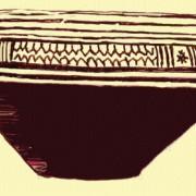 Skyphos (antikes Trinkgefäß), Athen;attisch geometrisches Gefäß, Mitte des 8. Jh. v.Chr.