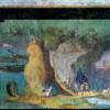 Römischer Meister um 125v.Chr.: Landschaft zur Odyssee;um 150–100 v.Chr., Wandmalerei, Höhe 150cm;Rom, Vatikan, Biblioteka Apostolica.