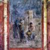 Römischer Meister um 20n.Chr.: Die Erziehung des Dionysos;um 20n.Chr., Fresko; Rom, Museo Nazionale delle Terme.