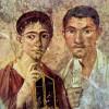 Meister des Porträts des Paquius Proculus: Porträt des Paquius Proculus und seiner Frau;um 20–30n.Chr., Fresko, Höhe 58cm;Neapel, Galleria Nazionale di Capodimonte.