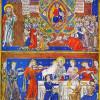 """Illustration der Bibel: """"Apokalypse"""" eines englischen Meisters aus dem 13. Jahrhundert"""
