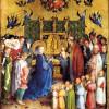 STEFAN LOCHNER : Darbringung im Tempel, 1447,Holz, 139 × 124 cm,Darmstadt, Hessisches Landesmuseum.