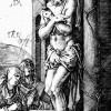 """ALBRECHT DÜRER: Folge der """"Kupferstichpassion"""": """"Schmerzensmann an der Säule"""", 1509,Kupferstich, 116 x 75 mm,New York, The Metropolitain Museum, Department of Drawings"""