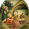 """FRA ANGELICO, Freskenzyklus im Dominikanerkloster San Marco in Florenz,Szene: """"Grablegung Christi"""";um 1437–1446, Fresko; Florenz, Museo di San Marco."""