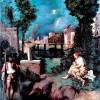 "GIORGIONE: ""La Tempesta"";um 1507/1508, Öl auf Leinwand;Galleria dell' Accademia, Venedig."