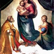 "RAFFAEL: ""Madonna di San Sisto"";1512/1513, Dresden, Gemäldegalerie."