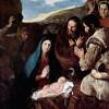 """JOSÉ DE RIBERA: """"Anbetung der Hirten"""";1650, Öl auf Leinwand, 238 × 179 cm;Paris, Musée du Louvre"""
