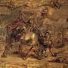 """PETER PAUL RUBENS: """"Achilles besiegt Hektor"""";1. Hälfte 17. Jh., Öl auf Holz, 44 × 51,5 cm;Rotterdam, Museum Boymans-van Beuningen."""