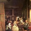 """DIEGO VELÁZQUEZ: """" Las Meninas"""" (Selbstporträt mit der königlichen Familie);1656–1657, Öl auf Leinwand, 318 × 276 cm;Madrid, Museo del Prado."""