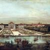 CANALETTO: Ansicht von München, Schloß Nymphenburg, von Westen aus gesehen.Washington (D.C.), National Gallery of Art