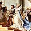GIOVANNI BATTISTA TIEPOLO: Fresken im Kaisersaal des Würzburger Residenzschlosses, mit historischen Szenen aus der deutschen, mittelalterlichen Geschichte,Detail, 1750–1753.