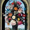 """AMBROSIUS BOSSCHAERT DER ÄLTERE: """"Blumenvase in einer Fensternische"""";um 1620, Holz, 64 × 46 cm;Den Haag, Königliche Gemäldegalerie Mauritshuis"""
