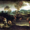 ANNIBALE CARRACCI: Der Fischfang. vor 1596, Öl auf Leinwand, Paris, Musée du Louvre.