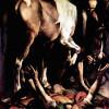 """MICHELANGELO CARAVAGGIO: """"Bekehrung des Saulus"""",Gemälde der Cerasi-Kapelle in Santa Maria del Popolo in Rom;1600–1601, Öl auf Leinwand, 230 × 175 cm;Rom, Santa Maria del Popolo"""