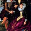 PETER PAUL RUBENS: Selbstporträt des Malers mit seiner Frau Isabella Brant in der Geißblattlaube;um 1609, Öl auf Leinwand, 178 × 136,5 cm;München, Alte Pinakothek