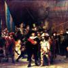 """REMBRANDT HARMENSZ. VAN RIJN: """"Die Nachtwache"""";1642, Öl auf Leinwand, 363 × 437 cm;Amsterdam, Rijksmuseum"""