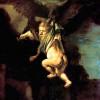 "REMBRANDT HARMENSZ. VAN RIJN: ""Raub des Ganymed"";1635, Öl auf Leinwand, 171 × 130 cm;Dresden, Gemäldegalerie"