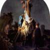 """REMBRANDT HARMENSZ. VAN RIJN: """"Kreuzabnahme"""";um 1633, Öl auf Holz, 89,4 × 65,2 cm;München, Alte Pinakothek"""
