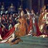 """JAQUES-LOUIS DAVID: """"Die Krönung Napoleons I. und die Krönung der Kaiserin Josephine"""",,gemalt 1806–1807;Paris, Musée de Louvre."""