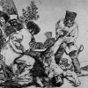 """FRANCISCO DE GOYA Y LUCIENTES: """"Kann man noch Ärgeres tun?"""";Blatt 33 aus der Folge """"Desastres de la Guerra"""" (Schrecken des Krieges);1814–1820, Aquatinta-RadierungBiblioteca Nacional, Madrid, Spanien."""
