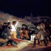 """FRANCISCO DE GOYA Y LUCIENTES: """"Erschießung der Aufständischen am 3. Mai 1808 in Madrid"""";gemalt 1814;Museo del Prado Madrid, Spanien."""